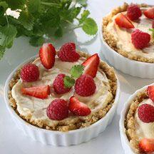 Minicheesecakes med apelsin och bär