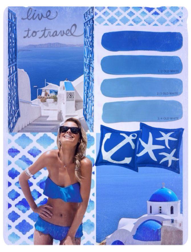 Summer breeze in greece! Interior design moodboard