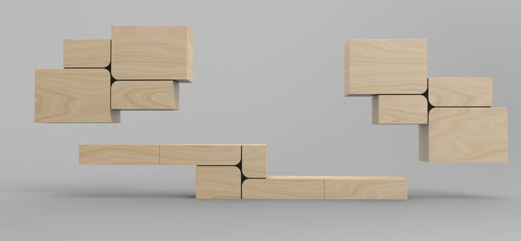 Concept based on modular function of furniture. Project: Agnieszka Pawłowska