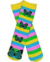 Butterflies Black Novelty Adult Socks by Wheel House Designs USA Made at Amazon Women's Clothing store: