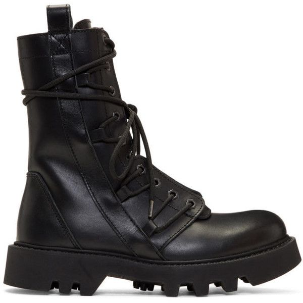 Helmut Lang Black Speed Lace Boots (5,255 CNY) ❤ liked on Polyvore featuring men's fashion, men's shoes, men's boots, black, mens zipper boots, mens zip boots, mens zip shoes, mens round toe cowboy boots and mens black boots