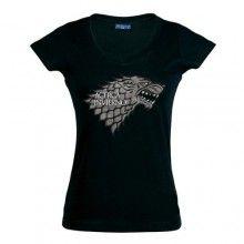 "Camiseta Juego de tronos Casa Stark ""Chica"" (Talla: S Chica manga corta Ancho/largo[39cm/56cm])"
