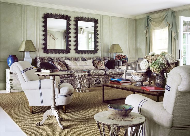 Forge River Home designed  by Carrier & Co. for Anna Wintour's Hamptons retreat. Photo by Eric Boman.