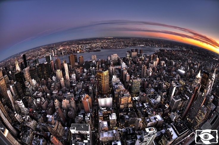 New york HDR  fisheye by Nurahmed Suleymanzade, via 500px