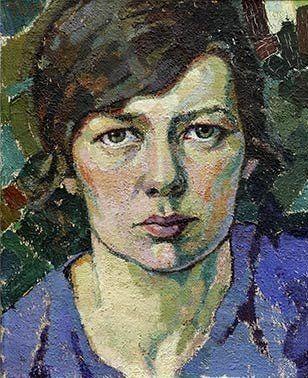 """Self portrait,"" Tora Vega Holmström (1880-1967)"