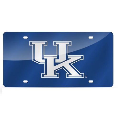 Kentucky Wildcats Blue Mirrored Laser Cut License Plate Laser Tag