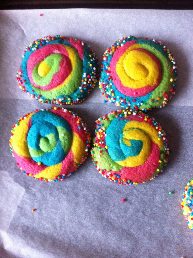 Rainbow swirl cookies! Look and taste yummo :)