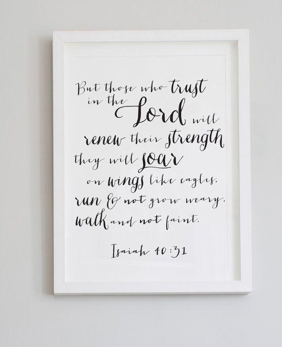 Isaiah 40:31 Canvas Bible Verse Scripture Wall by CherishByNoel