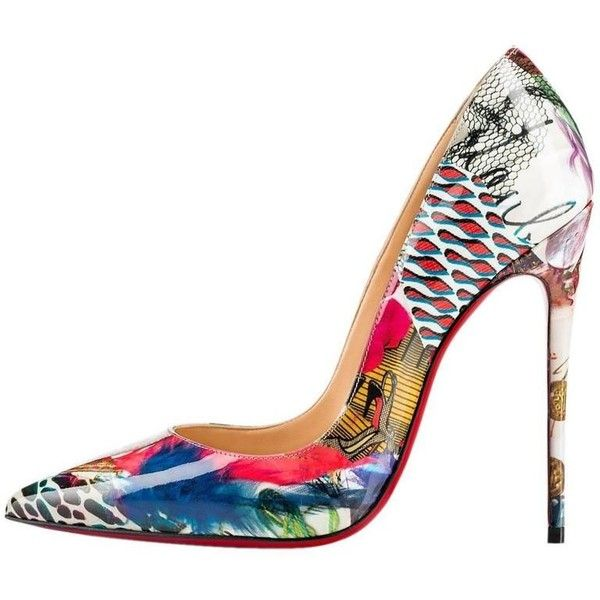 287e5764b00e Christian Louboutin New MultiColor Patent Leather So Kate High Heels ...