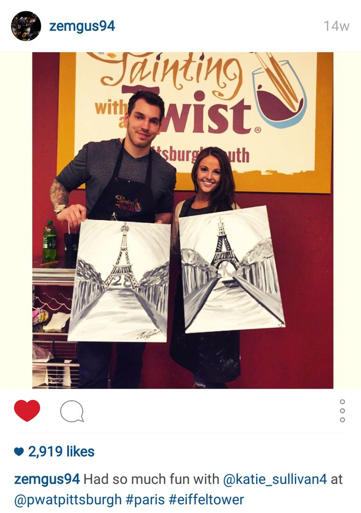 Zemgus Girgensons (starting forward for the Buffalo Sabres) enjoyed painting with his girlfriend in the Pittsburgh-South, PA Studio