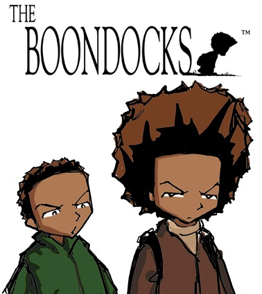 The Boondocks by Aaron McGruder: Meet Aaron McGruder's The Boondocks: Huey and Riley Freeman, Jazmine DuBois, and Huey's best friend, Caesar. This comic strip reflects the racial diversity and complexity of our world. Combining Huey's childish antics with contemporary political and social satire, the strip explores the terrain where dashikis and Brand Nubian CDs meet The Gap and Hanson. | http://gocomics.com/boondocks | #comics #boondocks #humor | © Aaron McGruder