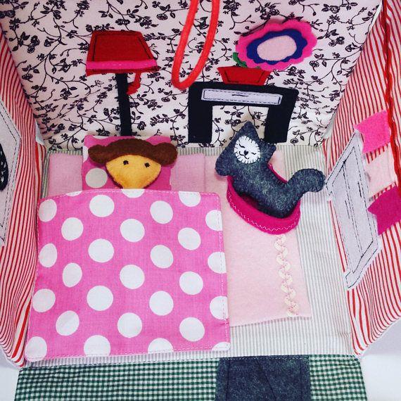 Travel dollhouse Dollhouse Fabric dollhouse Custom made #dollhouse  #fabricdollhouse #handbag