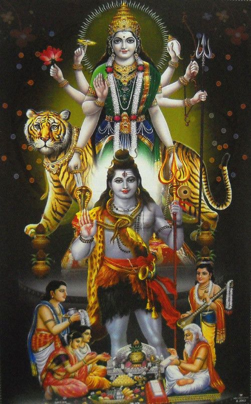Lord Shiva With Other Hindu Gods And Goddess Religious Poster 21X 31LM6963