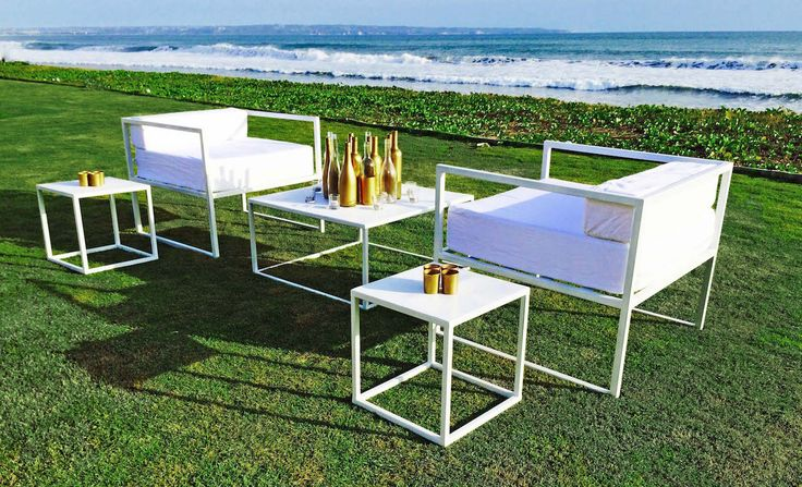 Contemporary Iron Low Lounge | Bali Ultimate Furniture Rental #weddings #Hire #events