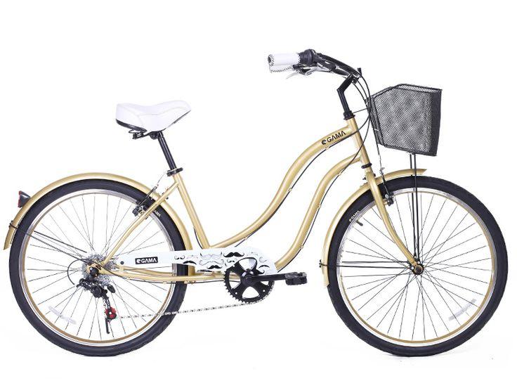 Cruiser Mujer/Dorado Moustache. Disponible para que la disfrutes en gamabikes.com #bicicleta #nuevatemporadagama