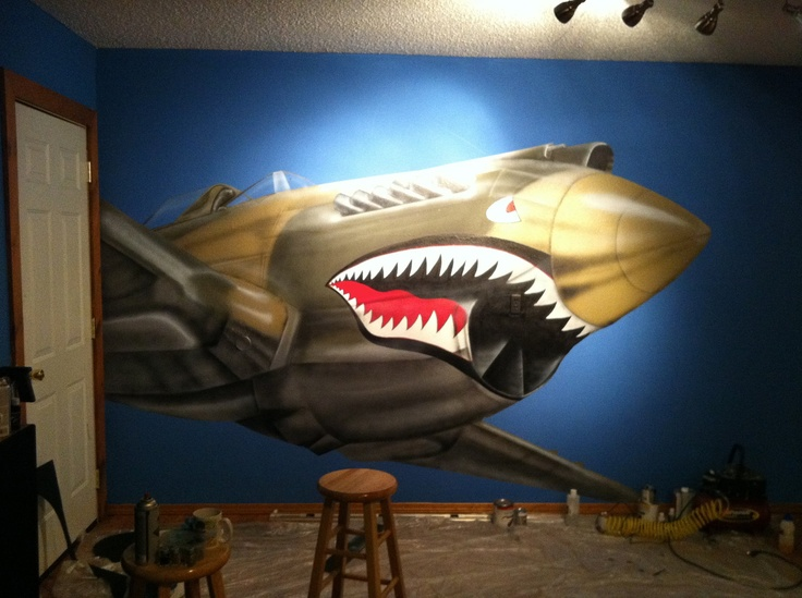 17 best images about airplane wall murals on pinterest for Aeroplane wall mural