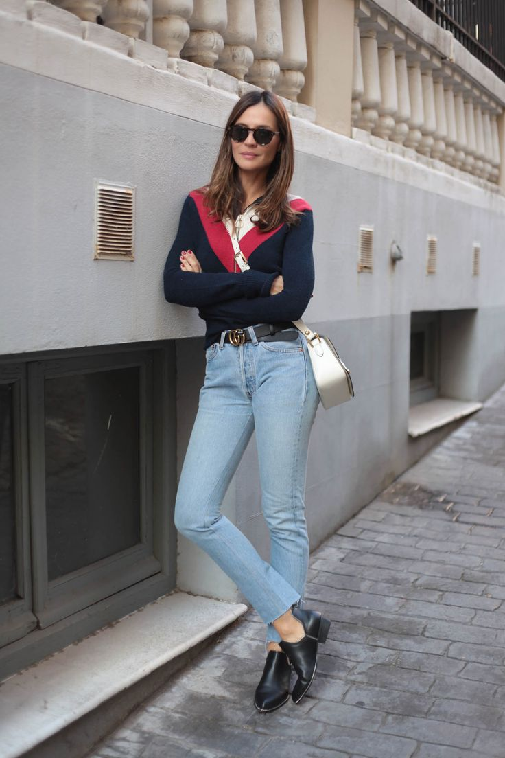 tricolor jumper looks - Lady Addict