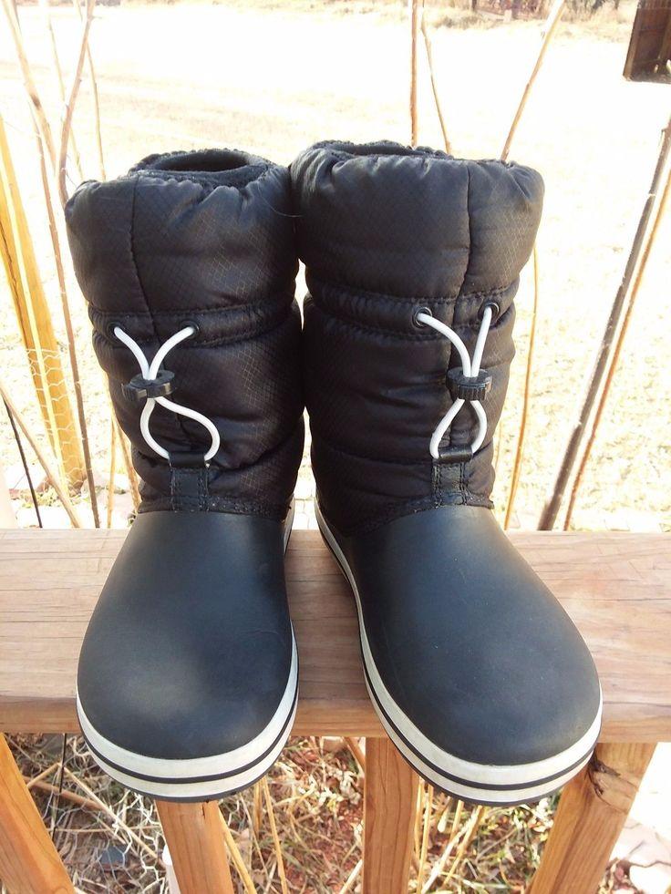 Crocs Winter Puffer Boot Black Womens Sz 6 Medium Crocband Snow Winter Shoe EUC | Clothing, Shoes & Accessories, Women's Shoes, Boots | eBay!