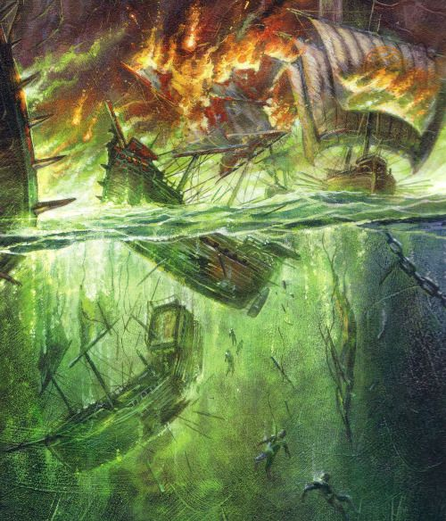 """acicueta: """" Battle of the Blackwater by Didier Grafett (detail) """""""