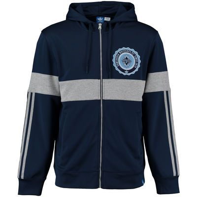 Men's Vancouver Whitecaps FC adidas Navy Originals Hooded Track Jacket