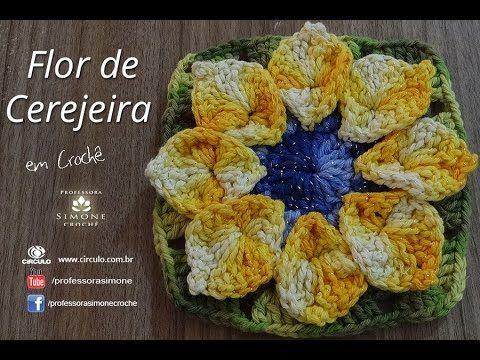 Na aula de hoje a Professora Simone ensina a confeccionar a Flor de Cerejeira em Crochê - Professora Simone ▶ INSCREVA-SE: http://goo.gl/mcBQT2 ▶ Facebook: h...
