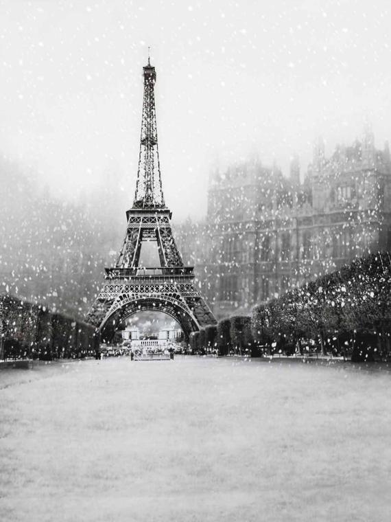 0561267e57a2 Retro White Black Paris Eiffel Tower Photography Studio Backdrop ...