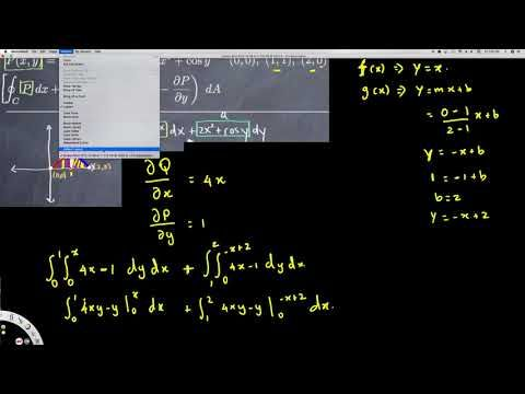Green's Theorem Two Regions -  Vector Calculus