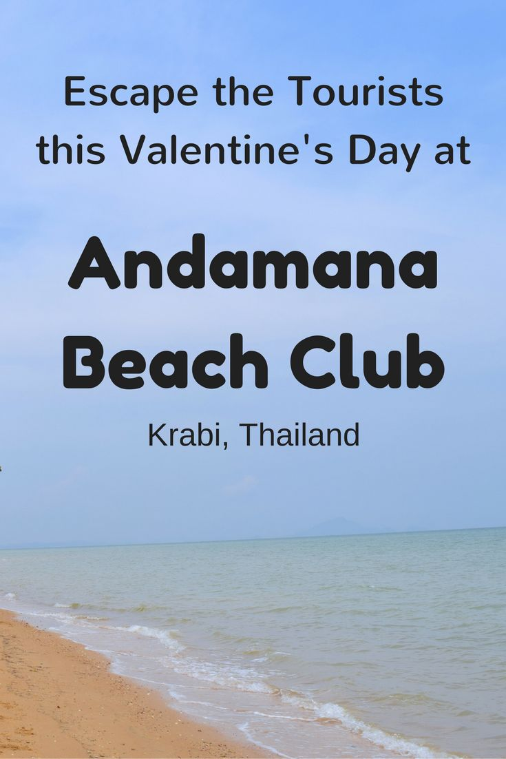 Andamana Beach Club is a public beach club that is a great alternative to the popular and often crowded Ao Nang beach. While you're at Andamana Beach Club you almost feel like you're on your own private beach. Read on for our review and why you should stay here for Valentine's Day.