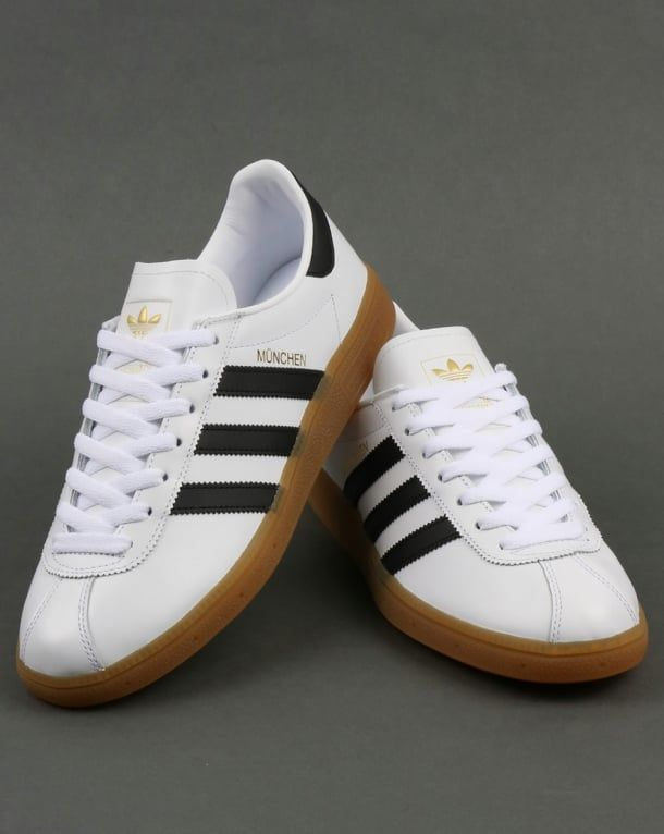 super popular f489c 53048 Adidas Munchen Trainers White Black,leather,originals,shoes,mens