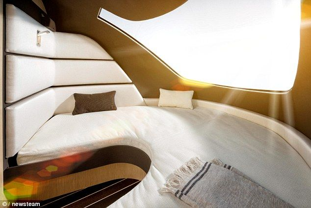 A spokesman for designers Knaus Tabbert described the futuristic vehicle as 'the future of caravanning'