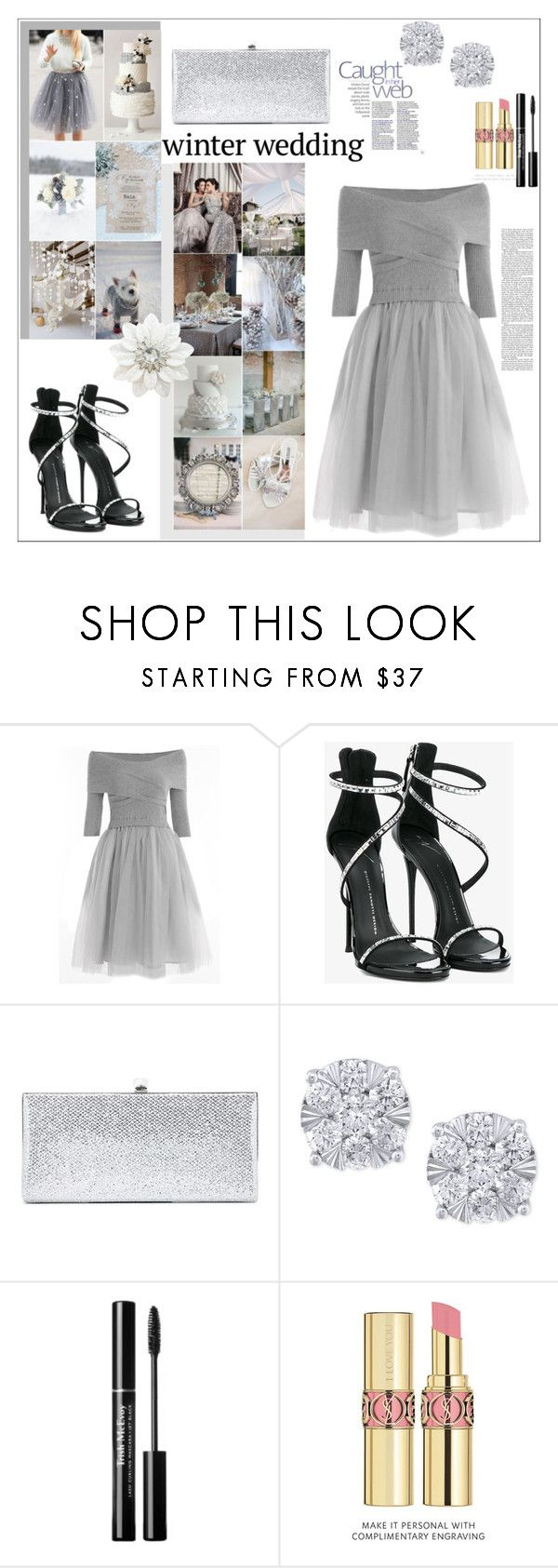 """Winter Wedding"" by anilia ❤ liked on Polyvore featuring Giuseppe Zanotti, Jimmy Choo, Effy Jewelry, Nicki Minaj, Yves Saint Laurent and winterwedding"
