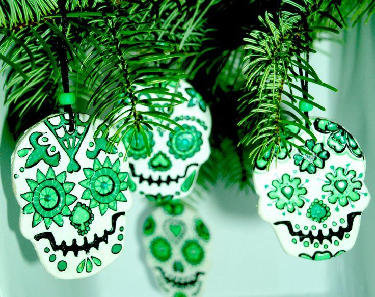 Sugar Skull decorations by ArniesArtwork on Etsy