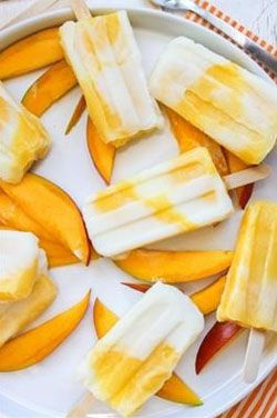 mango yoghurt ijsjes