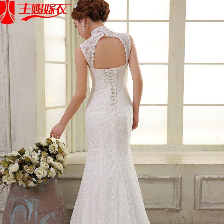 El vestido de boda formal 2015 breve trailing princesa del vestido de boda de cola de pescado dulce en Vestidos de Novia de Bodas y Eventos en AliExpress.com | Alibaba Group