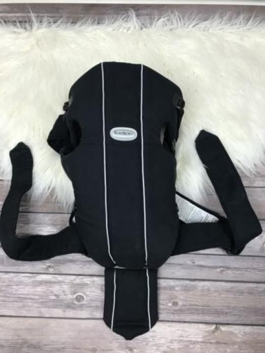 Babybjörn Baby Bjorn Black Carrier 8-25lbs Original Cotton Infant Backpack Wearing Size Adjustable No 100% 4851 Unknown