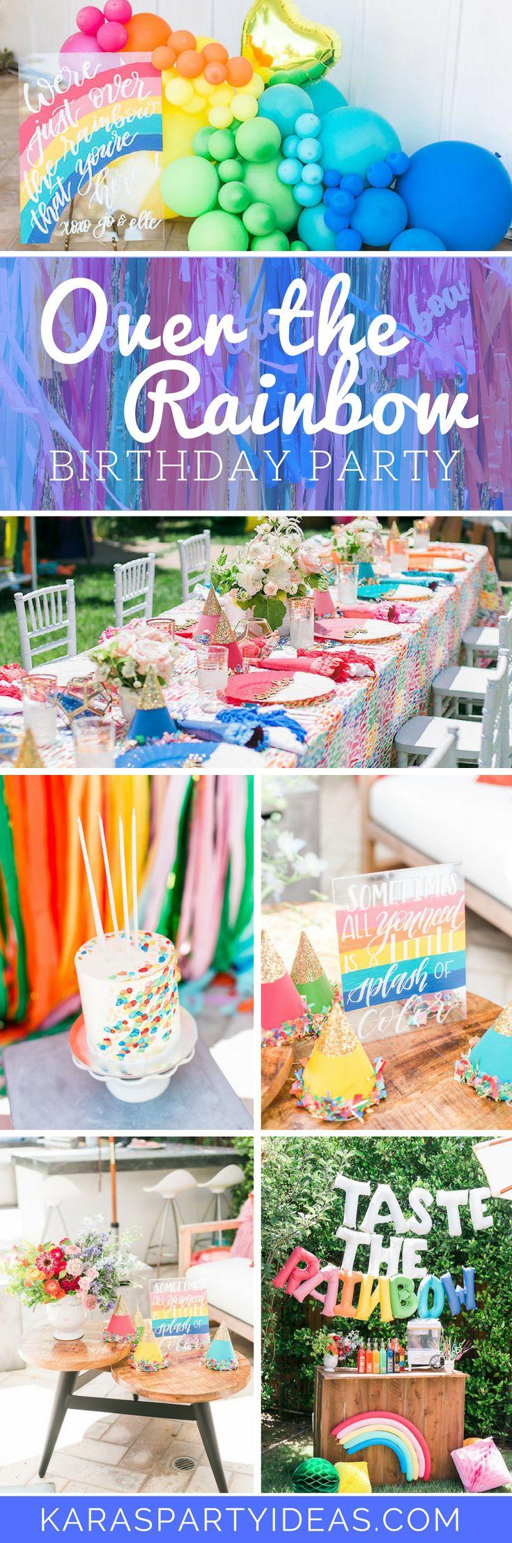 Tea time tea birthday party via kara s party ideas karaspartyideas com - Over The Rainbow Birthday Party Via Kara S Party Ideas Karaspartyideas Com