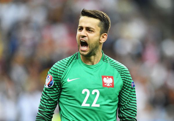 Lukasz Fabianski of Poland celebrates after his team's scoreless draw in the UEFA EURO 2016 Group C match between Germany and Poland at Stade de France on June 16, 2016 in Paris, France.