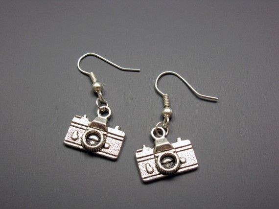 Camera Earrings  geek jewelry chic funny jewellery quirky by Szeya, $10.00