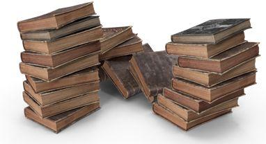 Fantasy book pile