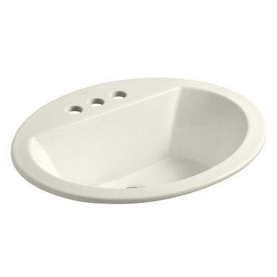 Kohler Bryant Oval Drop-In Bathroom Sink Finish: Biscuit, Faucet Hole Style: 4'' Centerset