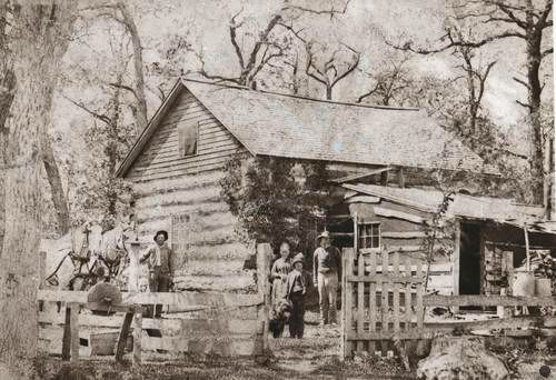 Log cabin in the mid 1880's - Washington CO, Minnesota: