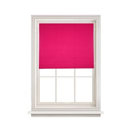 Plain Readymade Pink Blackout Roller Blind