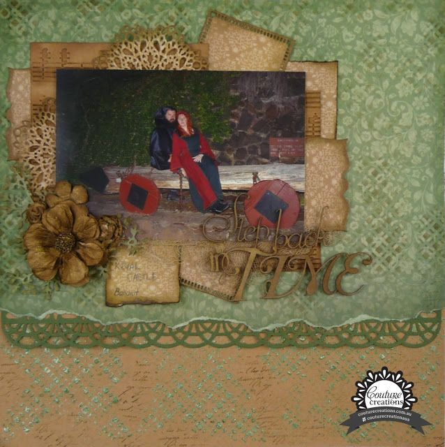 Couture Creations: Step back in Time by Cindy Porter  | #couturecreationsaus #scrapbooking #decorativedies #tutorial