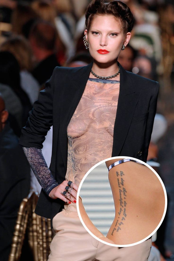 Erin Wasson Tattoos - Models with Tattoos - Elle