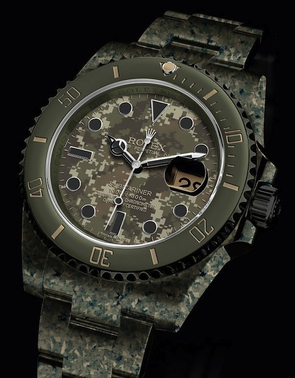 A camo Rolex. I'm not a fan of the brand, but I'd wear this if it fell from the sky.