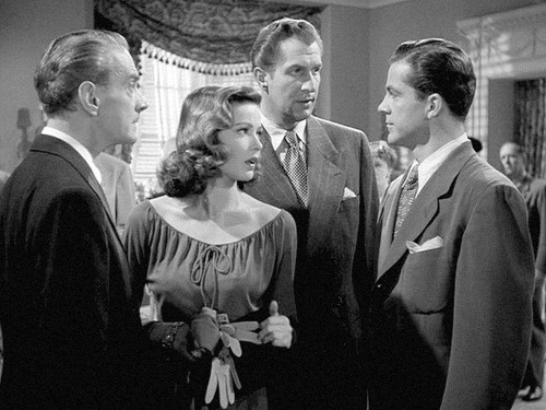 Clifton Webb, Gene, Vincent Prince & Dana Andrews from Laura 1944. This film is in more than once.