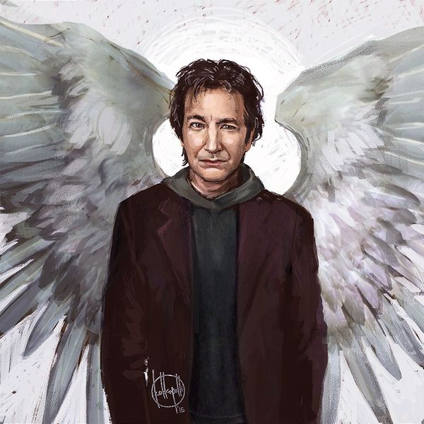 When inspiration suddenly attacked.  In Memory of Alan Rickman.  #Snape  Harry #Potter digital art