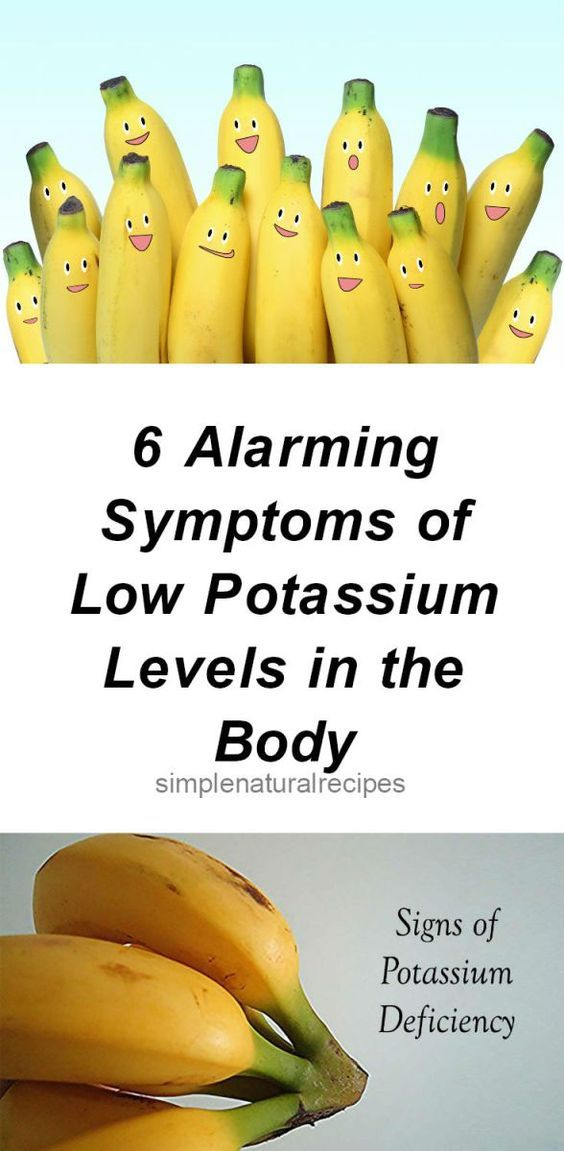 6 Alarming Symptoms of Low Potassium Levels in the Body