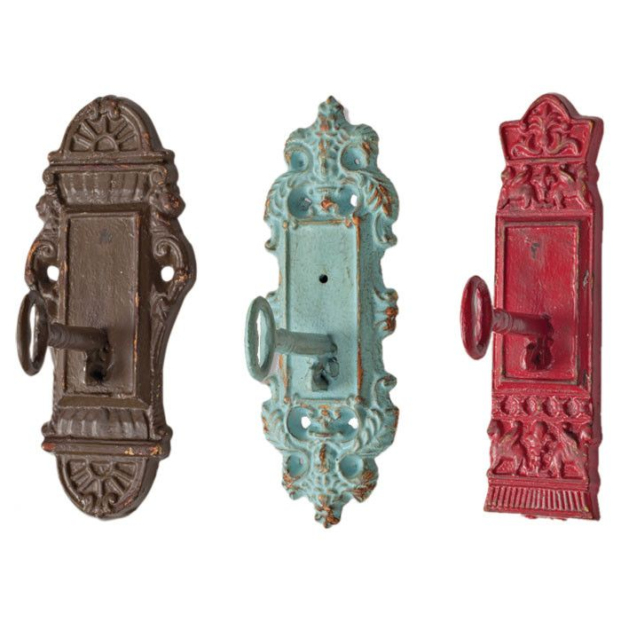 Lock & Key Wall Hook Set