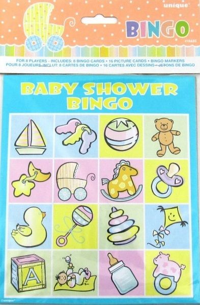 Baby Shower Party Bingo Game For 8 Players
